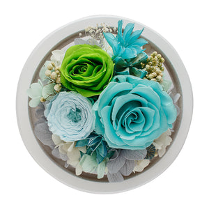 Tiffany Infinity Rose in Glass Dome