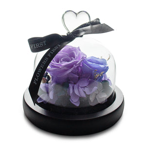 Violet Infinity Rose in Glass Dome
