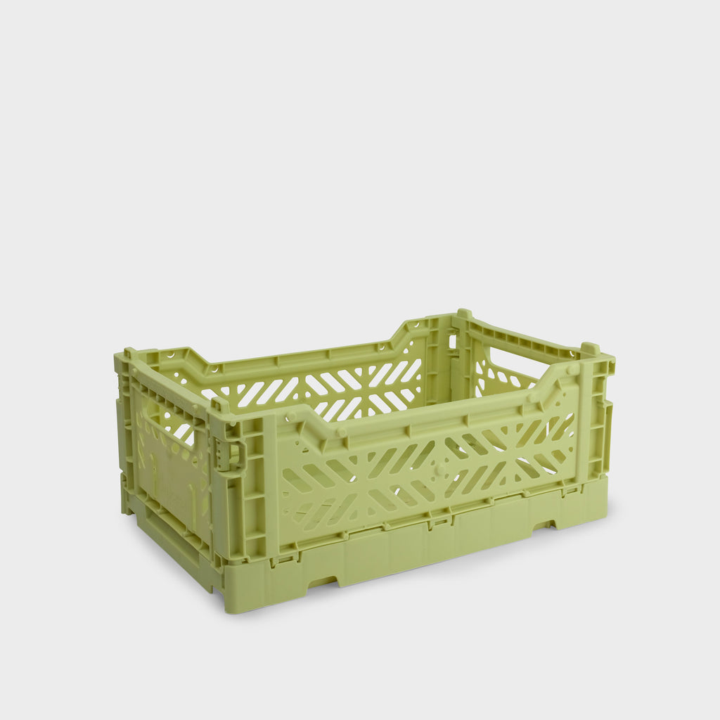 Lime Cream Folding Crate (Mini) - Shrimp's House