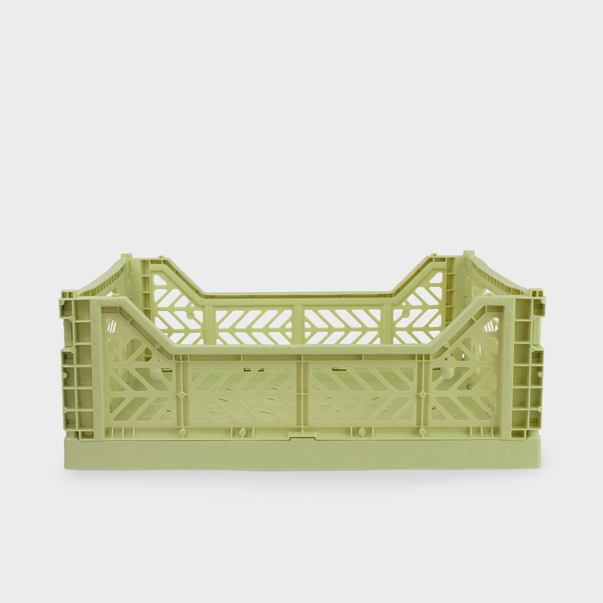 Lime Cream Folding Crate (Midi) - Shrimp's House
