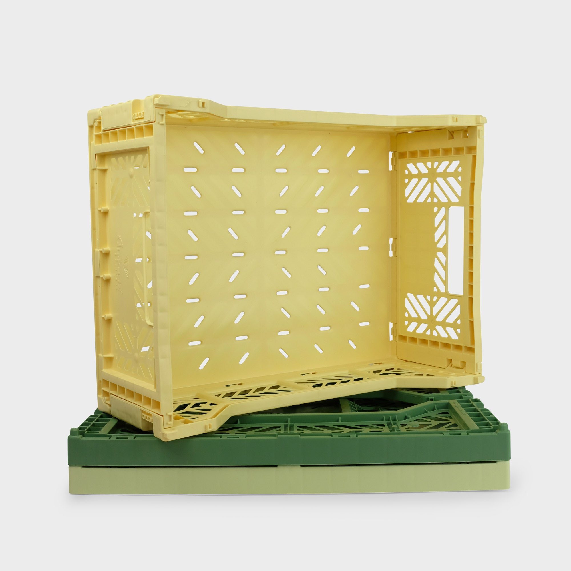 Banana Yellow Folding Crate (Midi) - Shrimp's House