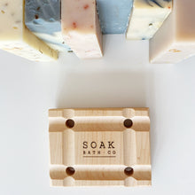 Load image into Gallery viewer, soap tray with soap bars