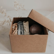 Load image into Gallery viewer, Gift Set: 2 Bath Bombs + 3 Soap Bars