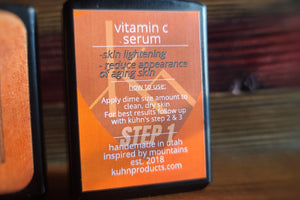 Lady Kühn Vitamin C Serum - Contains 20% Vitamin C, w/Hyaluronic Acid & Resveratrol (Step 1) - Kühn - Products For Men