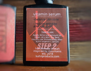 Our premium vitamin serum is made with vitamin b and vitamin e. It is packed with number active ingredients like isopropyl myristate, hydrolyzed rice protein, hydrolyzed pea protein, glycine, proline, hyarulonic acid, and resveratrol.