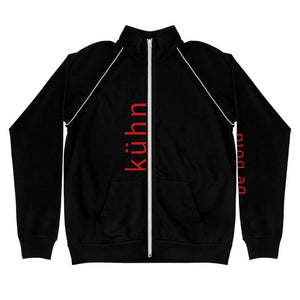"Kühn Fleece Jacket - ""be bold"" on left sleeve, ""kühn"" on the front"