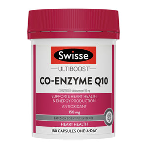 Swisse Ultiboost Co-Enzyme Q10 150mg 180 Kapsul