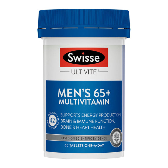 Swisse Men's Ultivite 65+ Multivitamin 60 Tablet