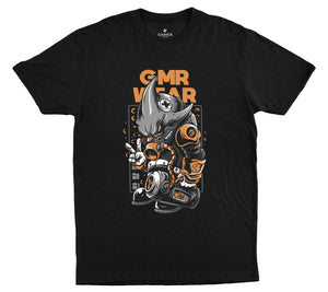 First Edition Tee - Cyber Shark - Black - GMR Wear