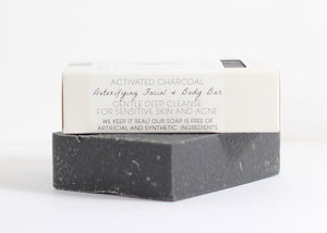 Activated Charcoal Facial and Body Bar
