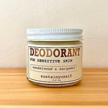 Load image into Gallery viewer, Sandalwood & Bergamot Deodorant