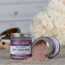 Load image into Gallery viewer, Rose & Hibiscus Clay Face Mask