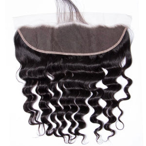 Deluxe Loose Deep Wave (13x4) Lace Frontal