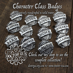 Fighter Badge - RPG Character Class Pin