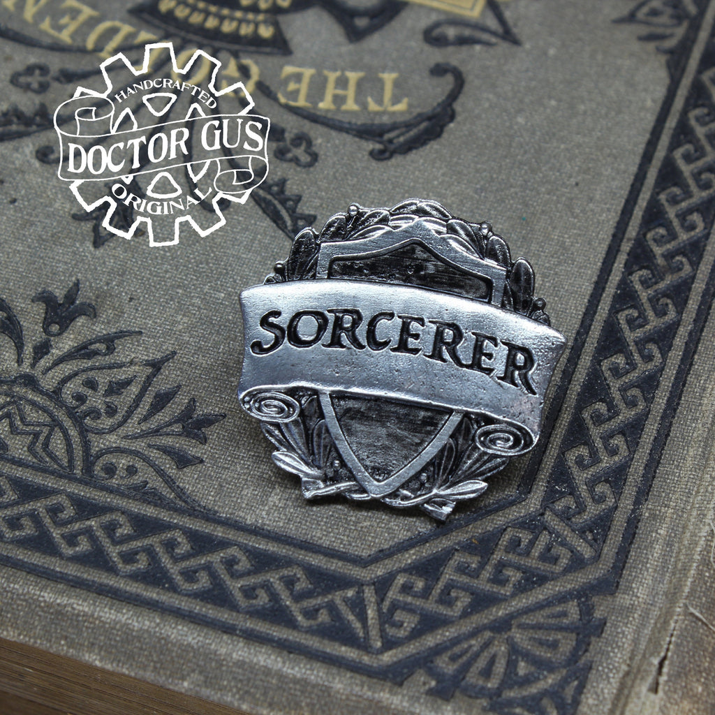 Sorcerer Badge - RPG Character Class Pin