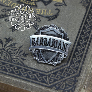Barbarian Badge - RPG Character Class Pin