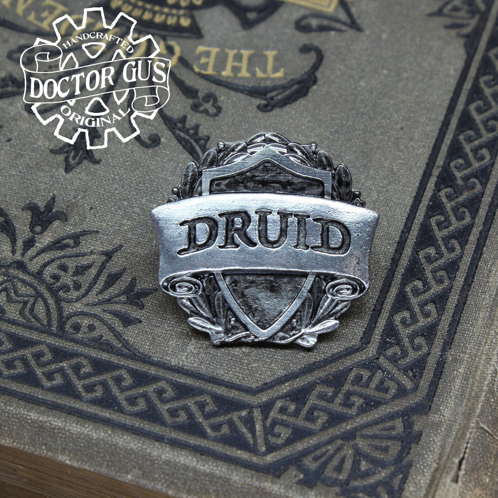 Druid Badge - RPG Character Class Pin