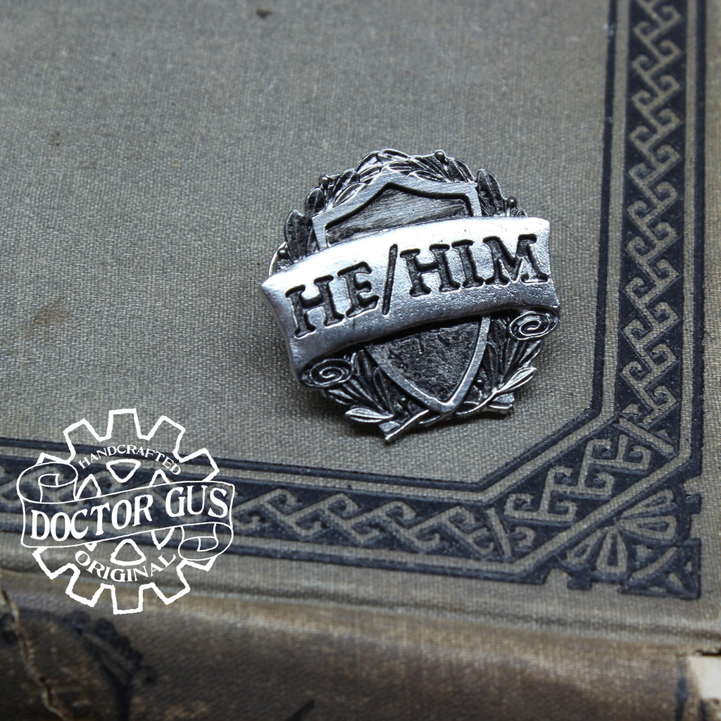 He/Him Pronoun Badge