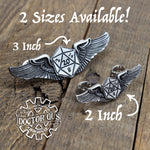 Winged Dice Pilot Wings - Mini Size