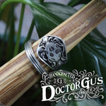 Ladybug Ring - Adjustable - Wrap Style - Handcrafted Pewter by Doctor Gus - Beautiful Antique Inspired Insect Ring