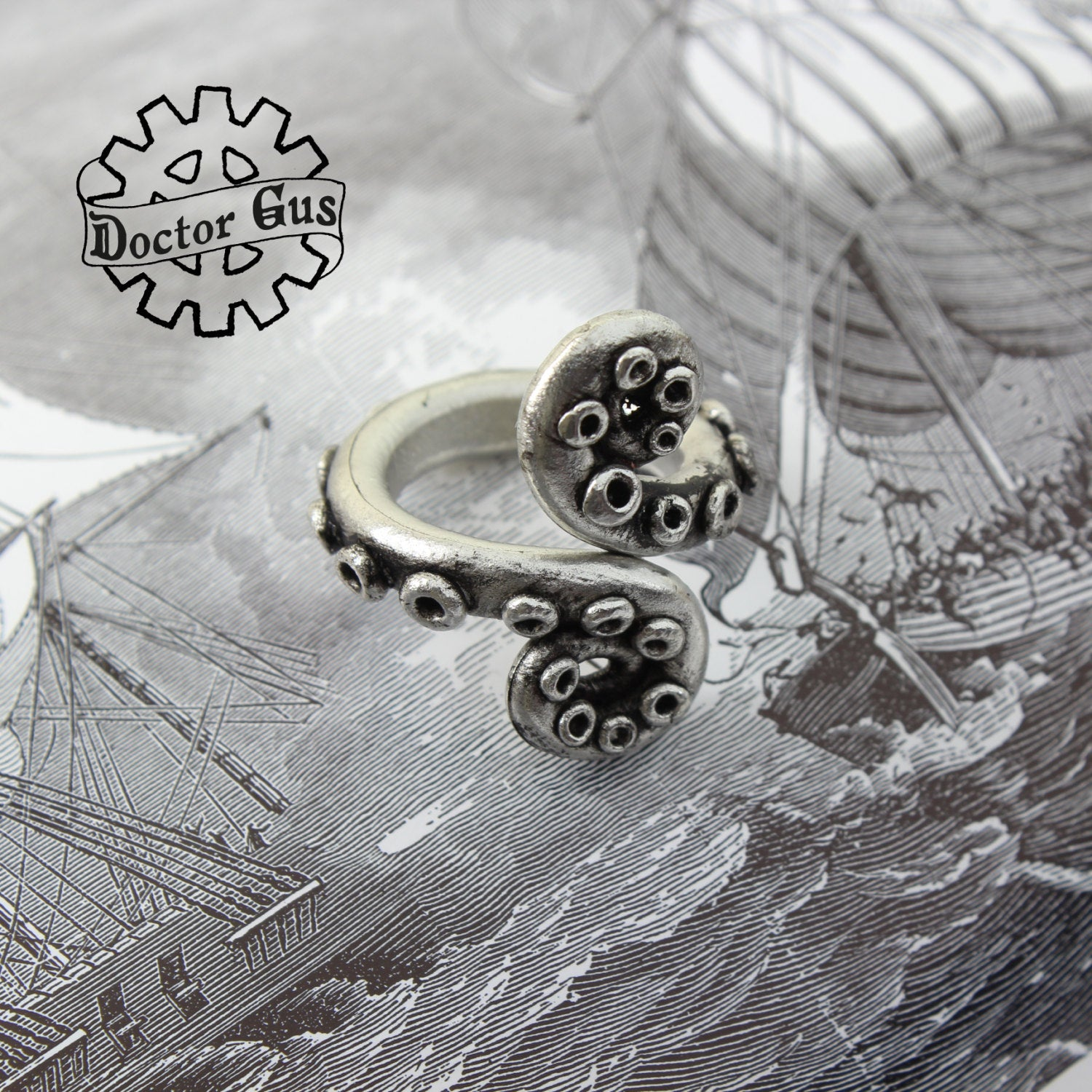 Double Spiral Tentacle Ring