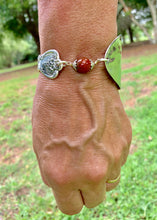 Load image into Gallery viewer, Spoon and handle RED JASPER bracelet