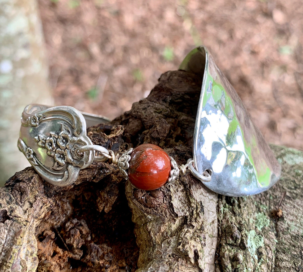 Spoon and handle RED JASPER bracelet