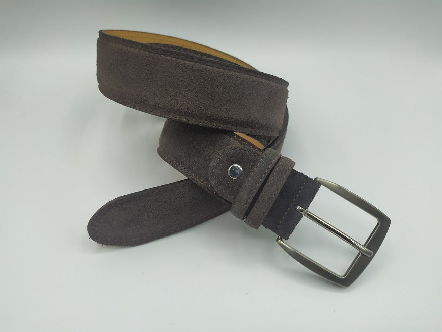 Suede belt with Full Grain Leather Interior