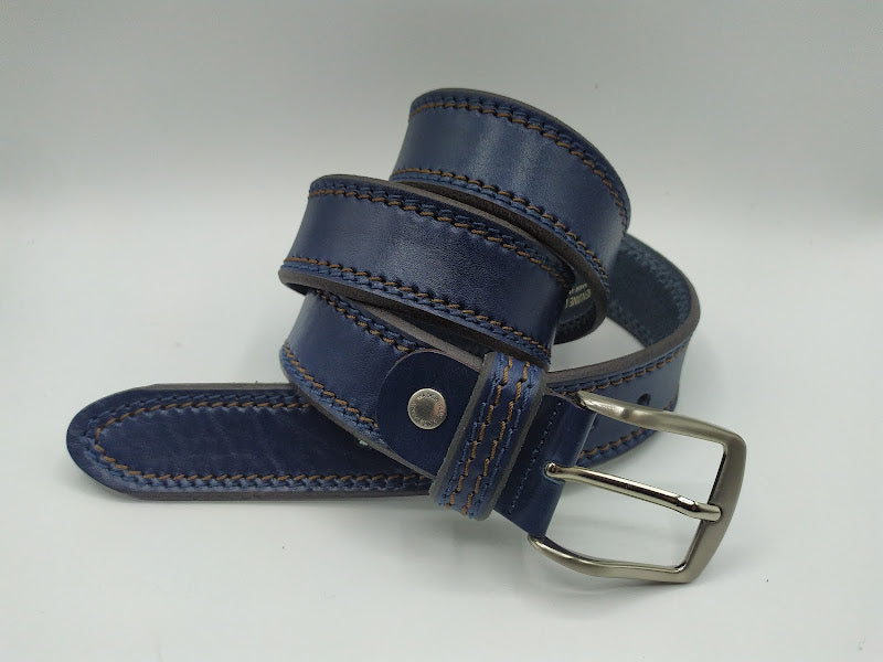 Double Contrast Stitch Belt