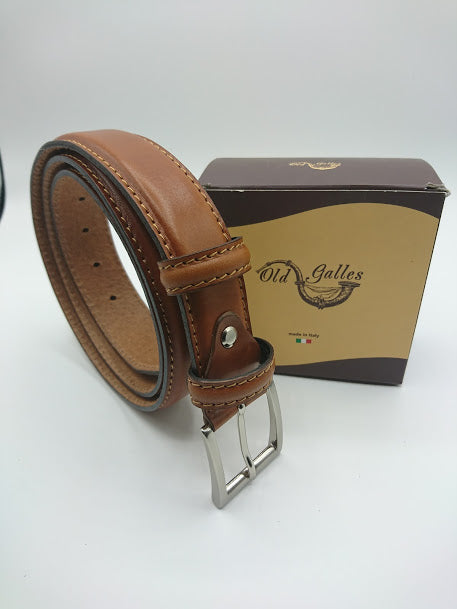 Rounded Leather Belt 3.5cm
