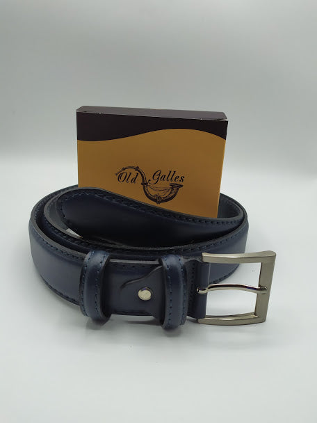 Rounded Leather Belt 4cm