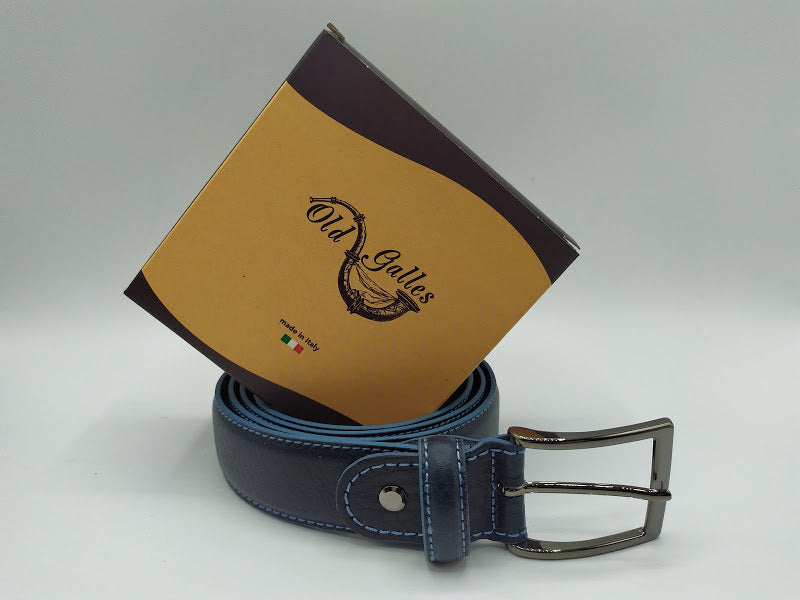 Contrast Full Grain Leather Belt