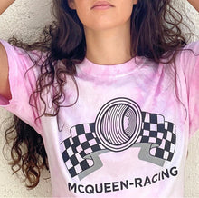 "Load image into Gallery viewer, McQueen-Racing Pink Tie-Dye ""Legacy"" T-shirt"
