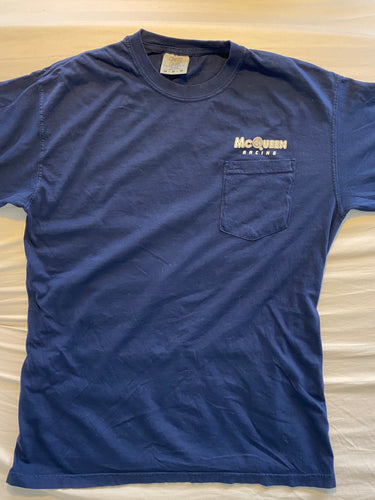 McQueen-Racing/Solar Engineering Blue Pocket Tee