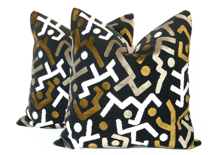 Pierre Frey Abstract Velvet- PAIR