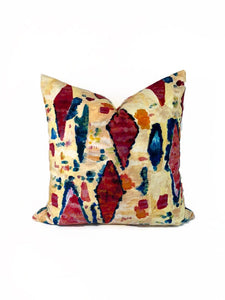 Bohemain Multicolor Printed Velvet- PAIR