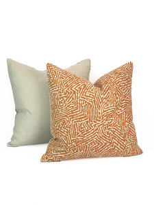 Kaiko by Romo Pillow- Pumpkin- PAIR