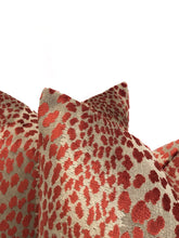 Load image into Gallery viewer, Duralee Leopard Velvet- Rust- PAIR