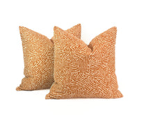 Load image into Gallery viewer, Kaiko by Romo Pillow- Pumpkin- PAIR
