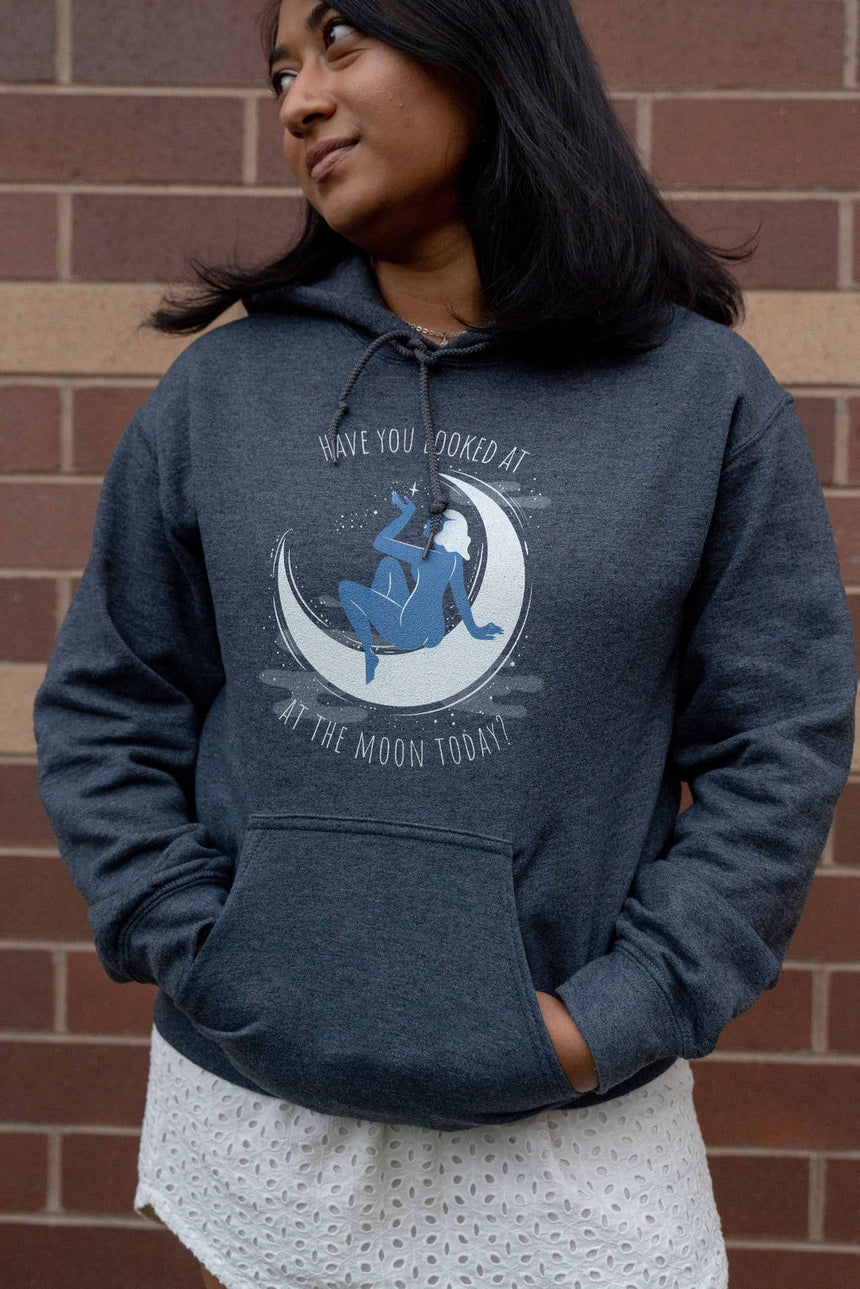 Dark Heather Moon Unisex Hoodie
