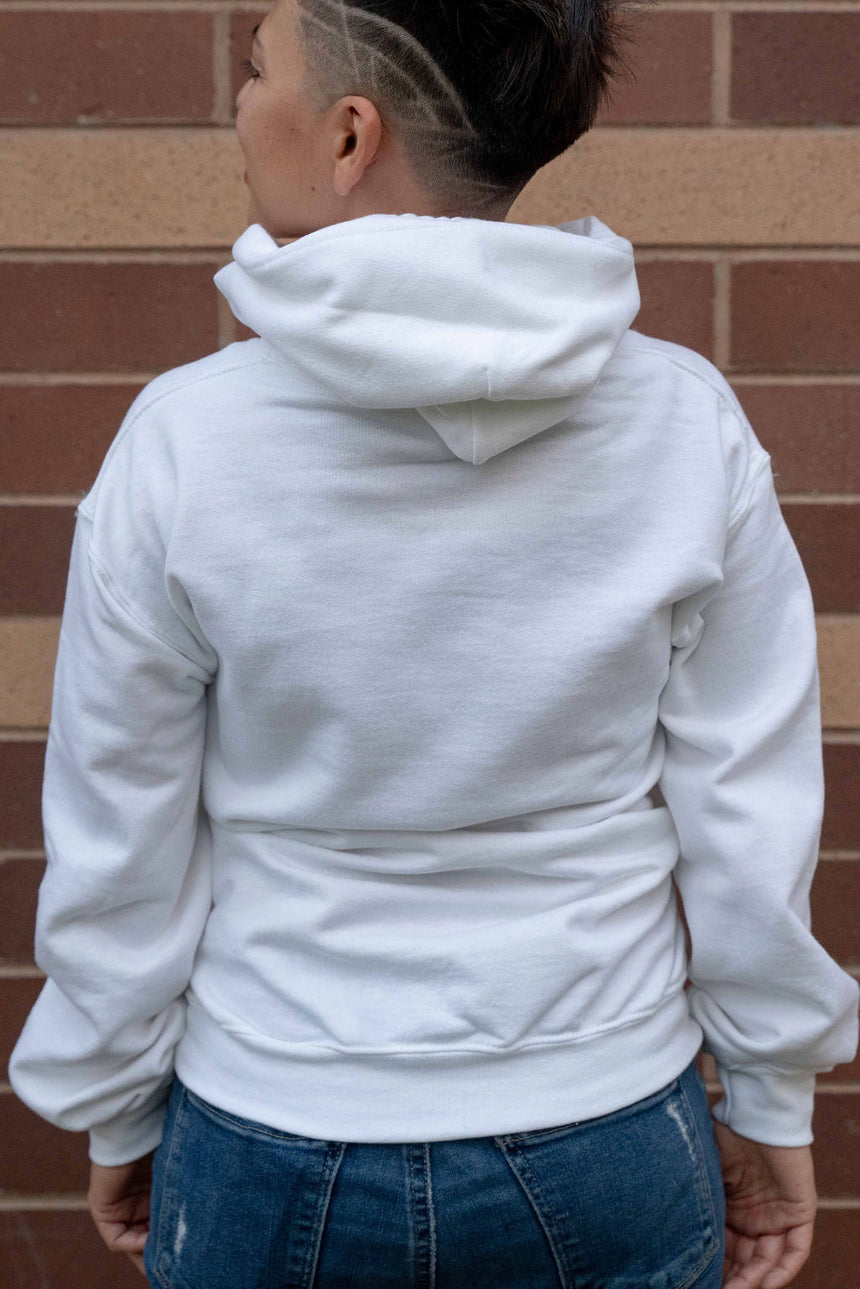 All About the Boogie White Hoodie