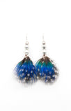 Short Earrings Peacock Blue