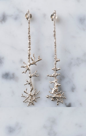 Millepora Silver Earrings