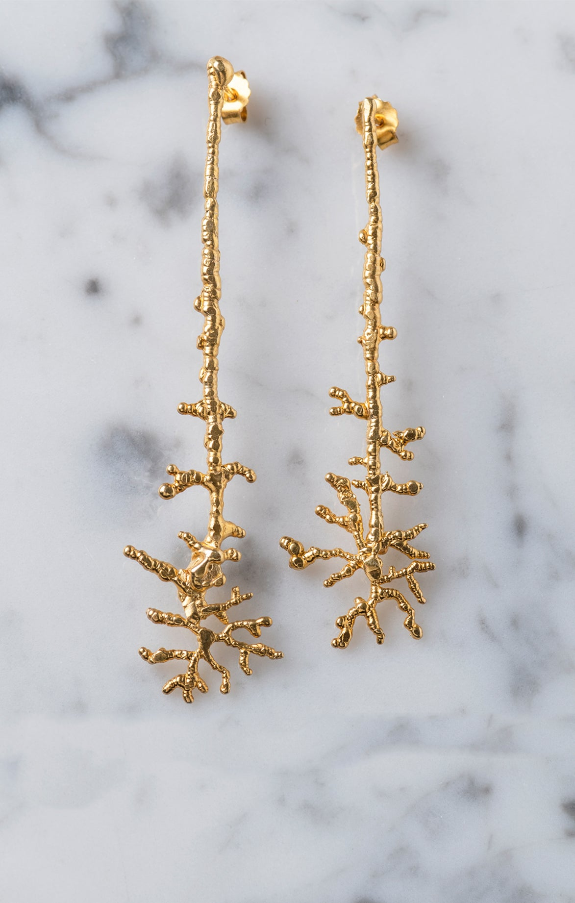 Millepora Earrings Gold plated 24k