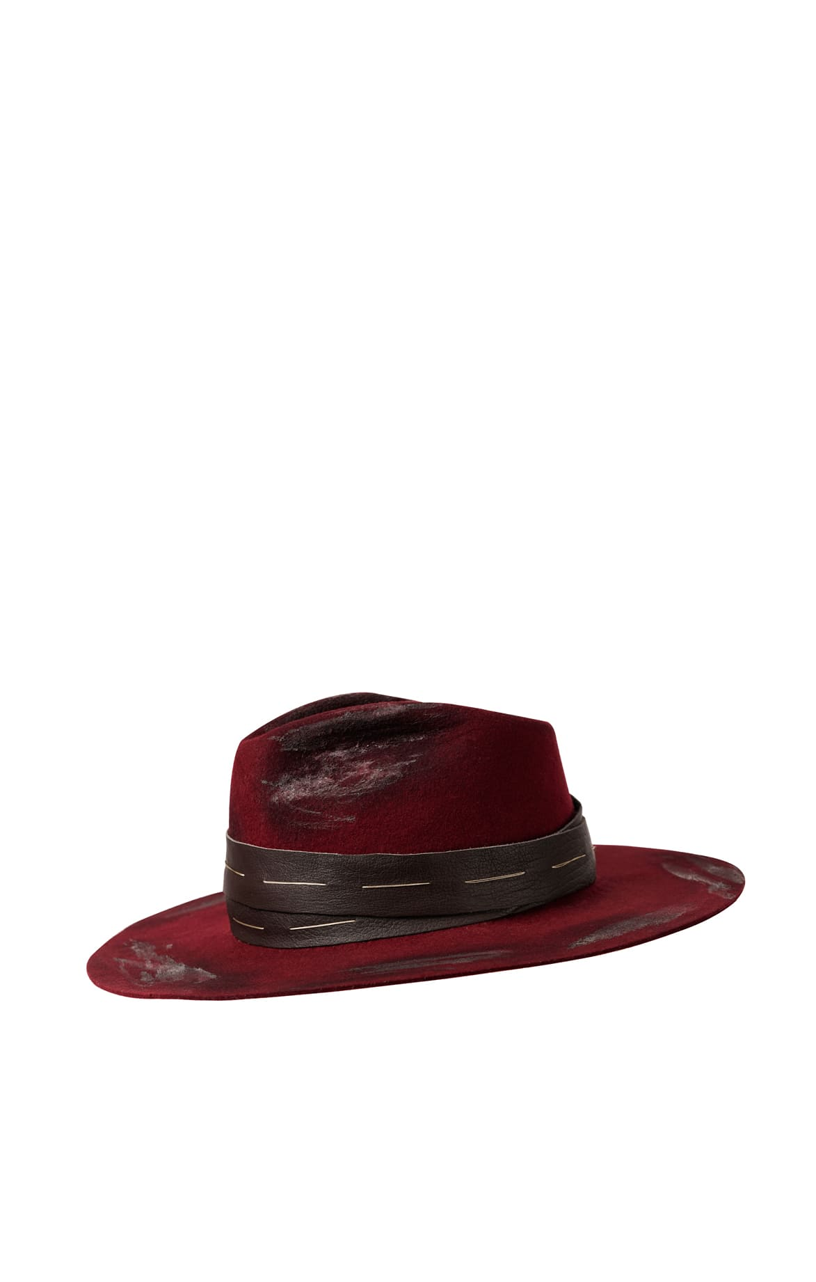 Rustic Red Fedora Hat