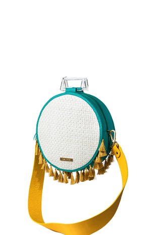 Genova Shoulder Bag Yellow and Blue
