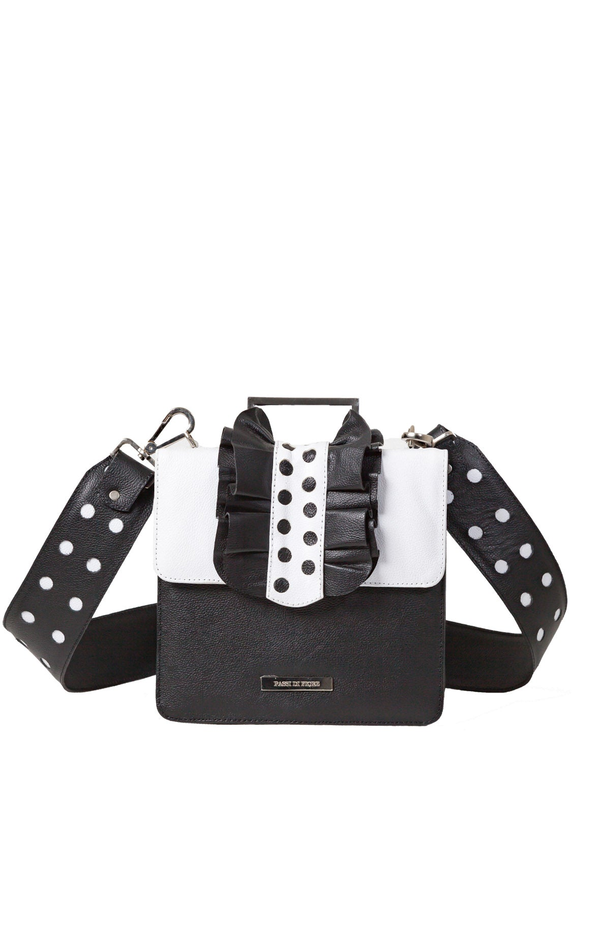 Andalusia Shoulder Bag Black and White