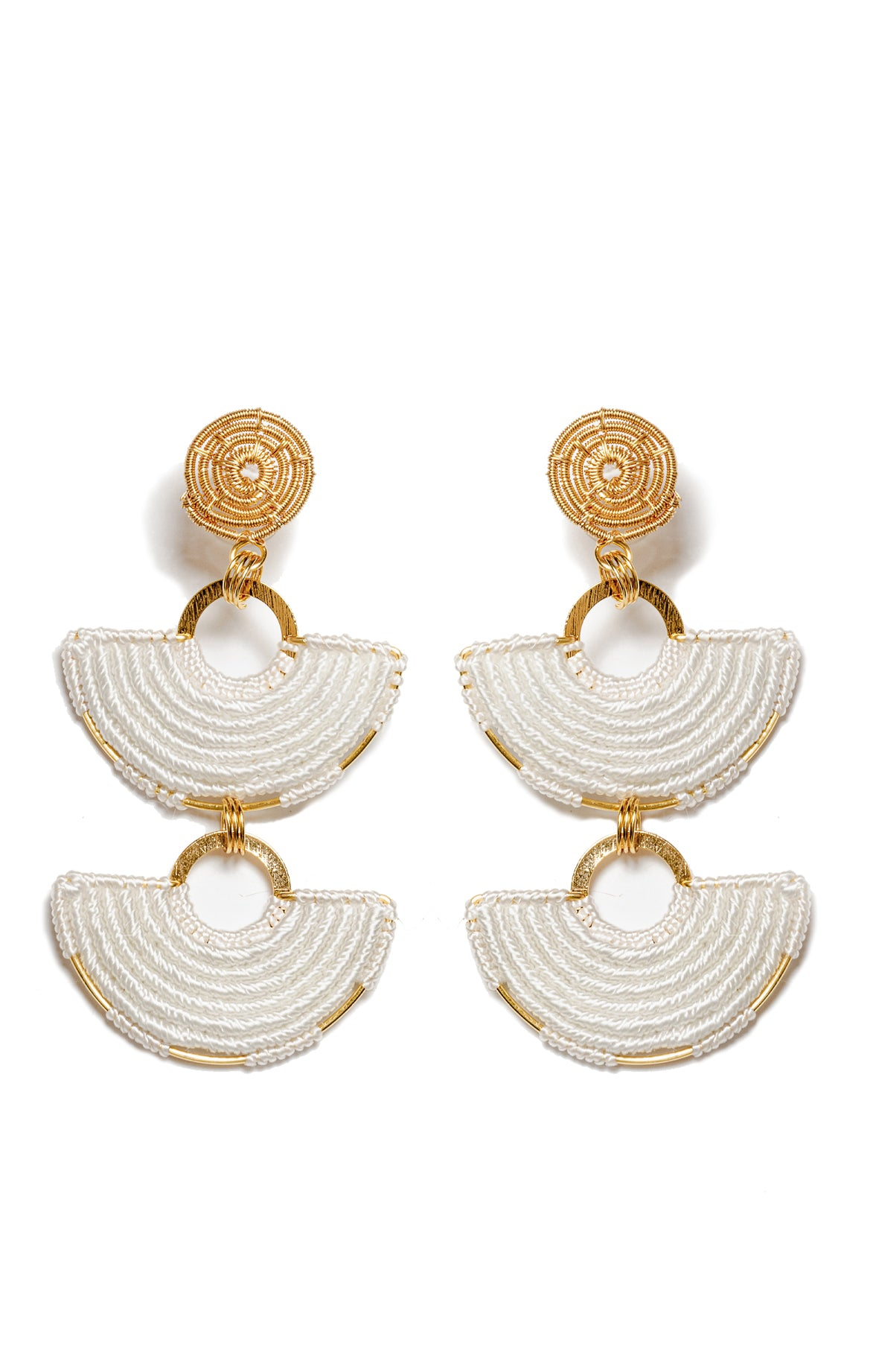 Bahaia White Earrings