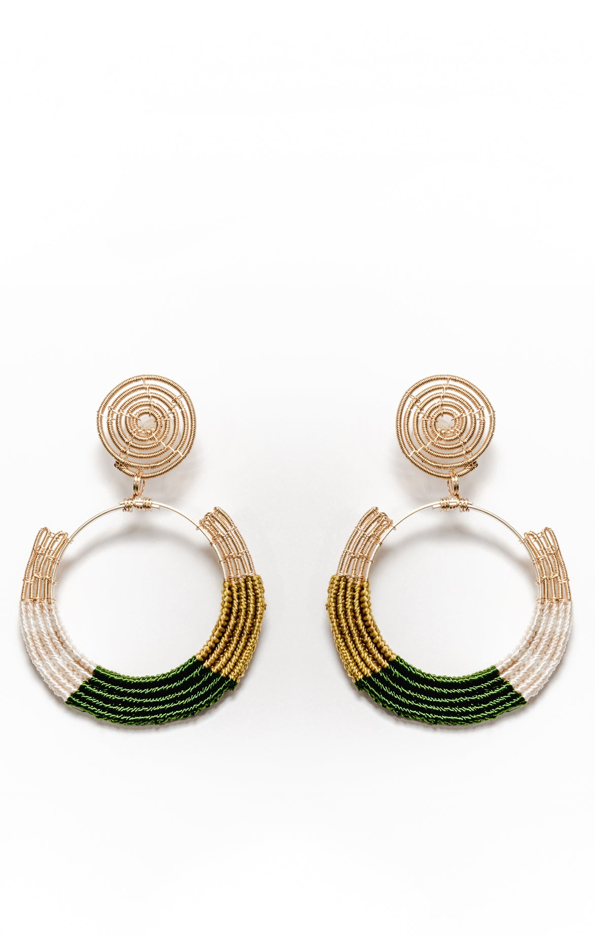 Tybza Earrings Olive