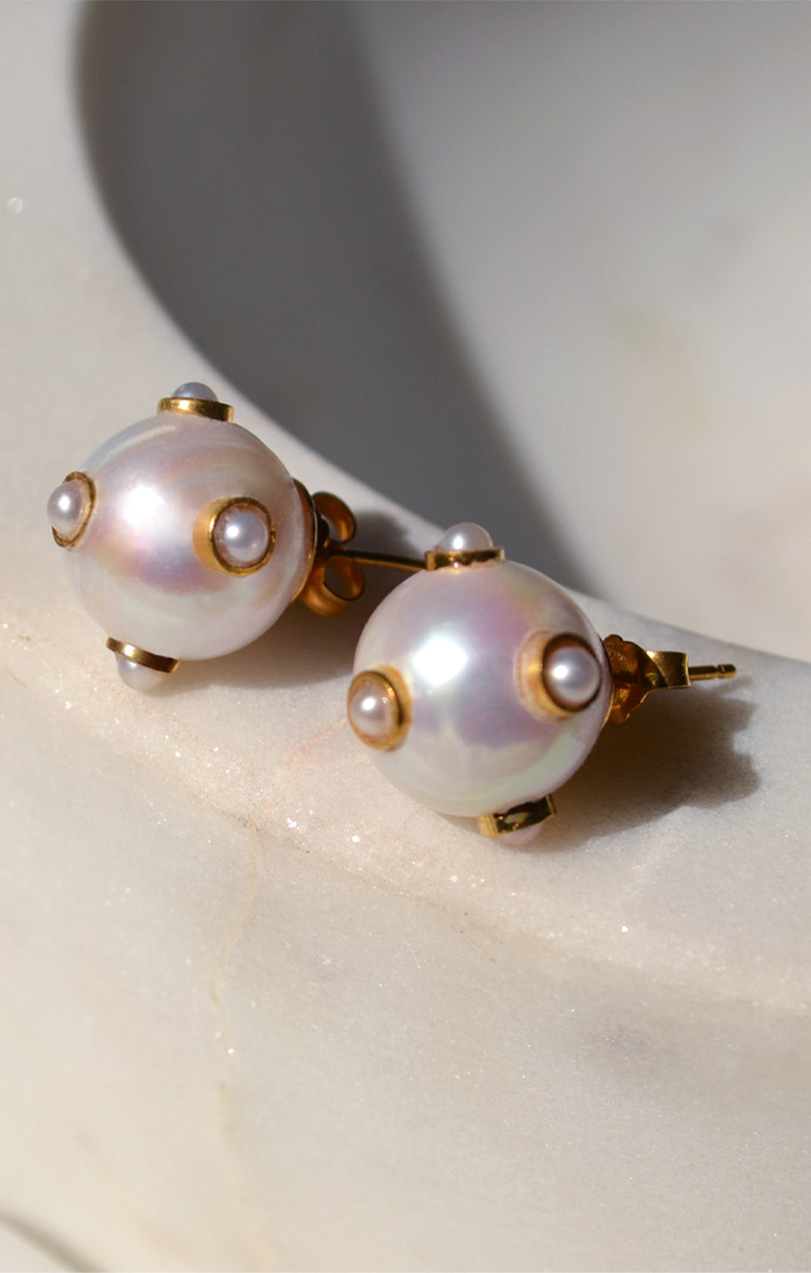 Pearl 5 Pearls Earrings